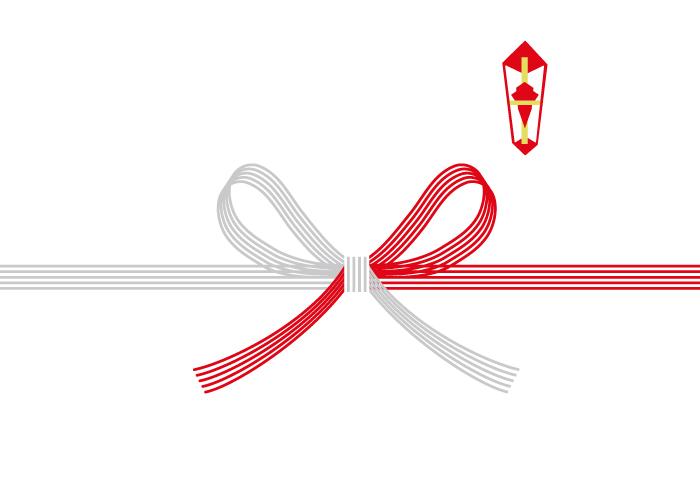 紅白蝶結び10本